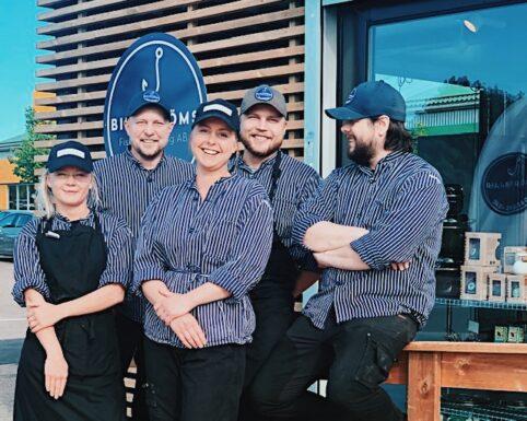 Personal på Billströms Fisk & Catering, Rydebäck, Helsingborg